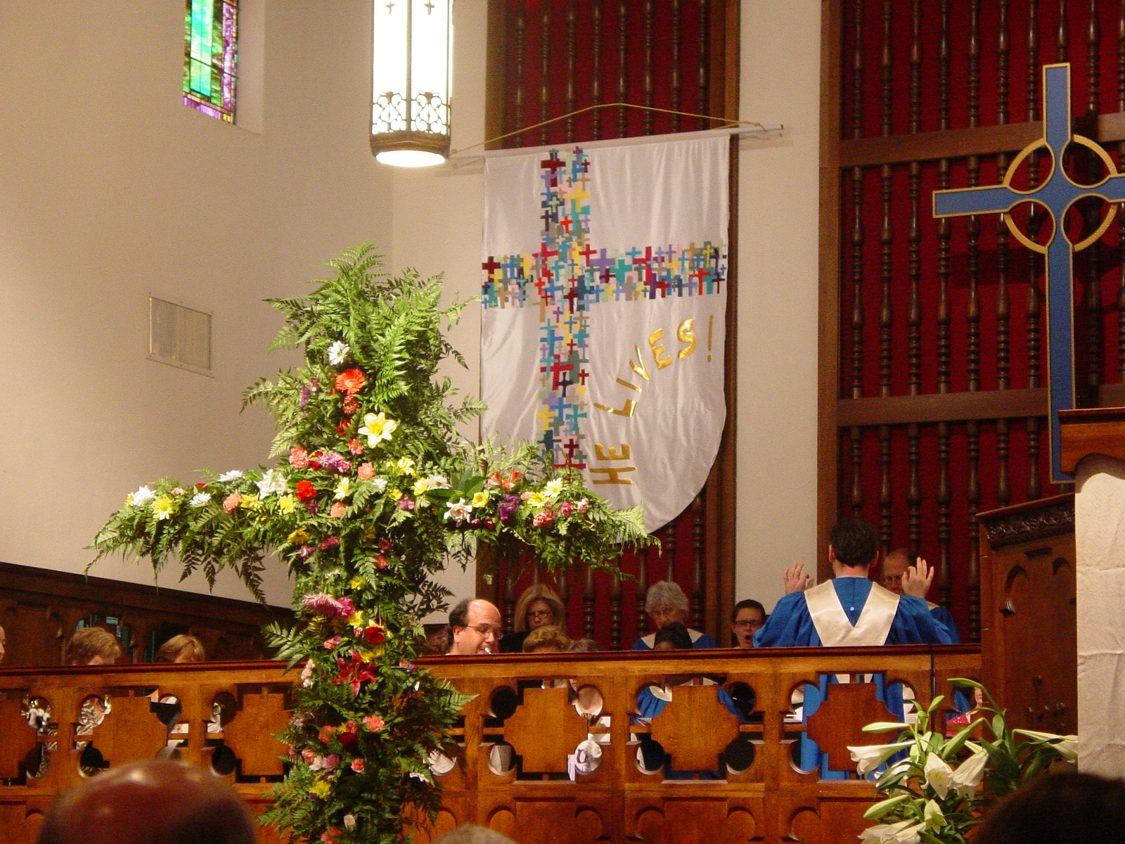 Flower Cross on Easter Sunday