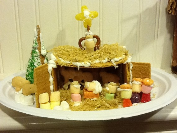 gingerbread nativity 2012