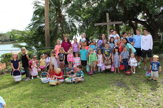 Easter egg hunt group photo 2017