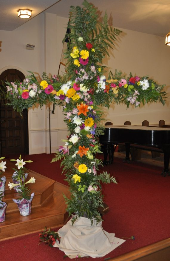 Easter flower cross 2018