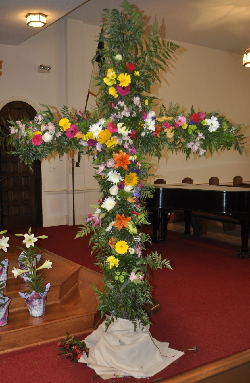 Easter flower cross 2018